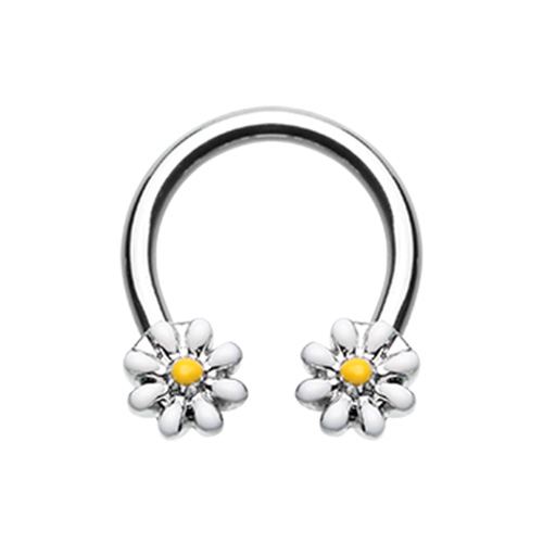 Daisy Flower Horseshoe Barbell