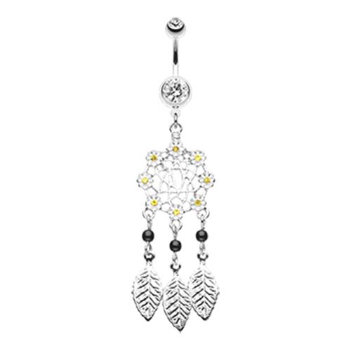 Daisy Dream catcher Belly Button Ring