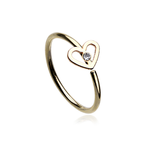 Dainty Heart Bendable Nose Hoop Ring