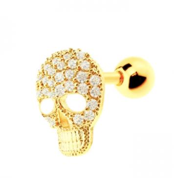 Skull Top Cartilage/Tragus earring