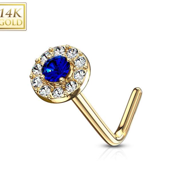14kt gold nose ring