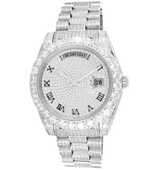 iced ABA Forever watch With vvs simulate diamonds