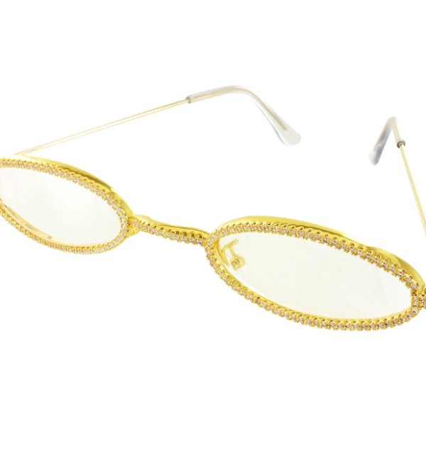 Iced Out Skinny Retro Glasses