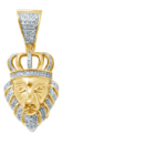 10kt gold diamond lion symba pendant