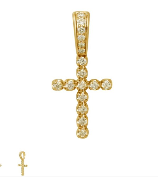 diamond cross pendat