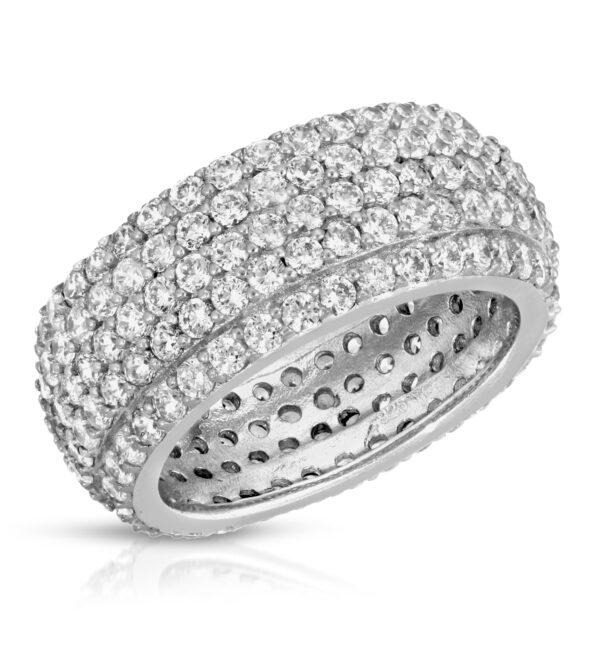 Five Row diamond Eternity Ring
