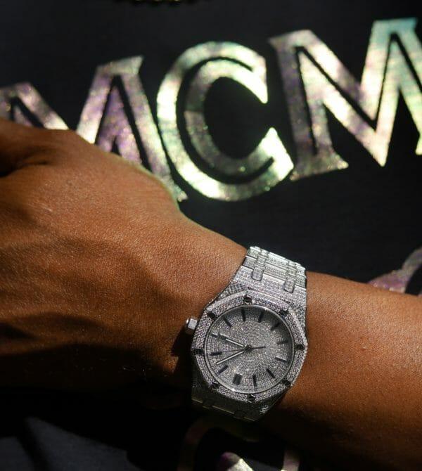Octagon POWA Watch With vvs simulate diamonds