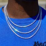 asscher cut tennis chain
