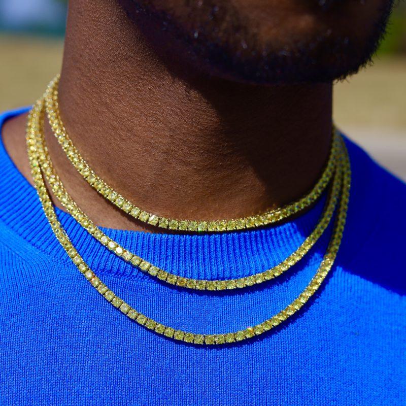 4mm canary diamond chain