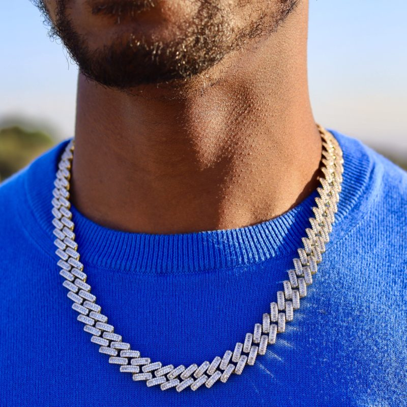 Baguette Diamond Cuban Link Necklace 2