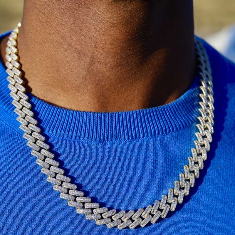 Baguette Diamond Cuban Link Necklace