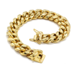 Men Miami Cuban Link Stainless Steel Bracelet