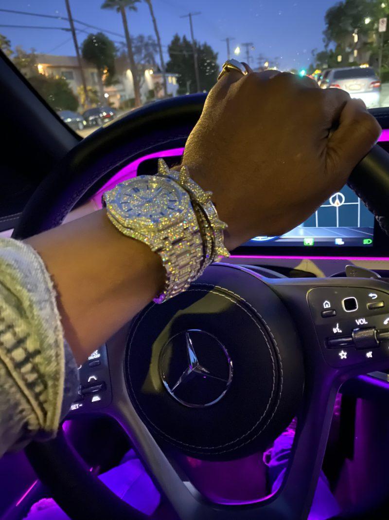Mens diamond watch