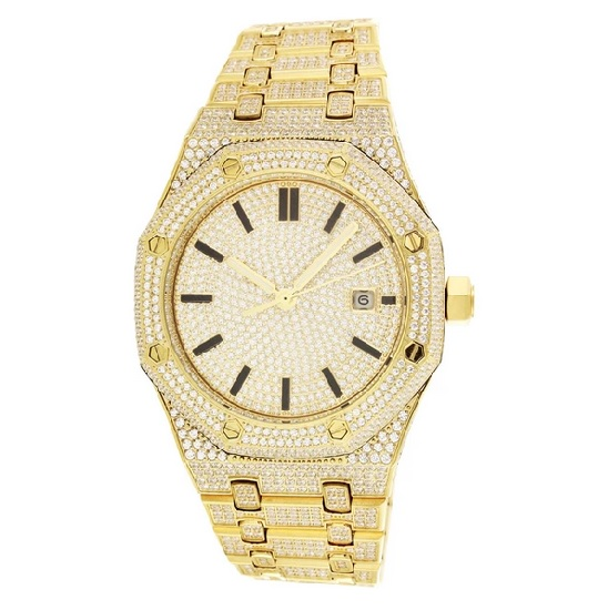 ABA Octagon iced out POWA Watch