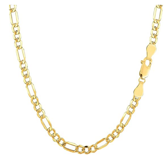 10k Gold Hollow Figaro Chain