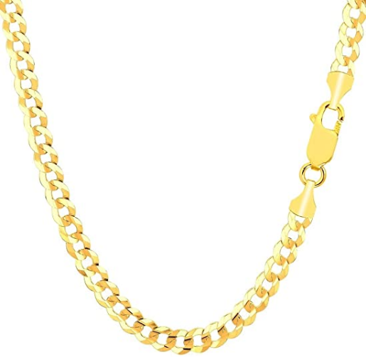 10K Gold Hollow Curb Cuban Chain