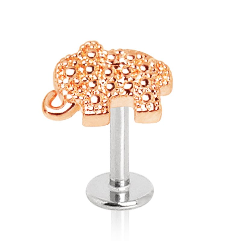 Rose Gold Plated Elephant Labret