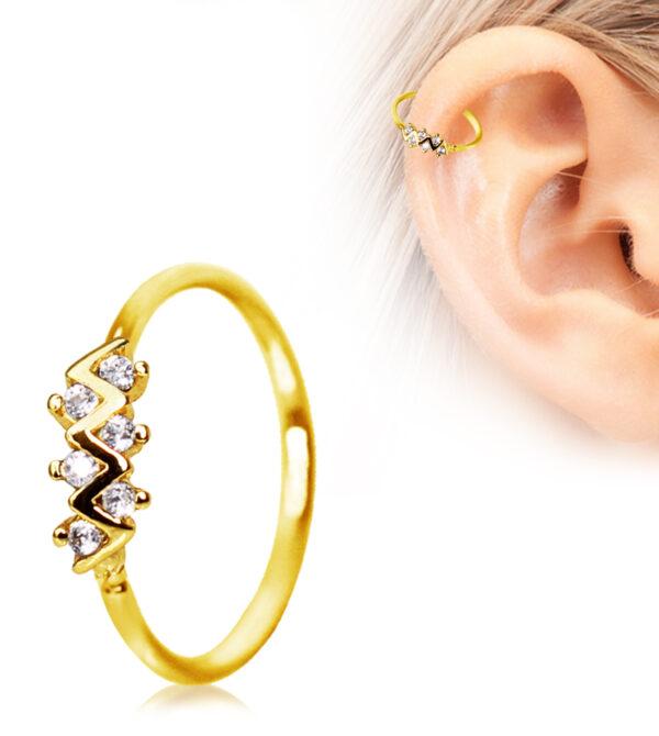 Zig-Zag Cartilage Earring/Nose Hoop Ring