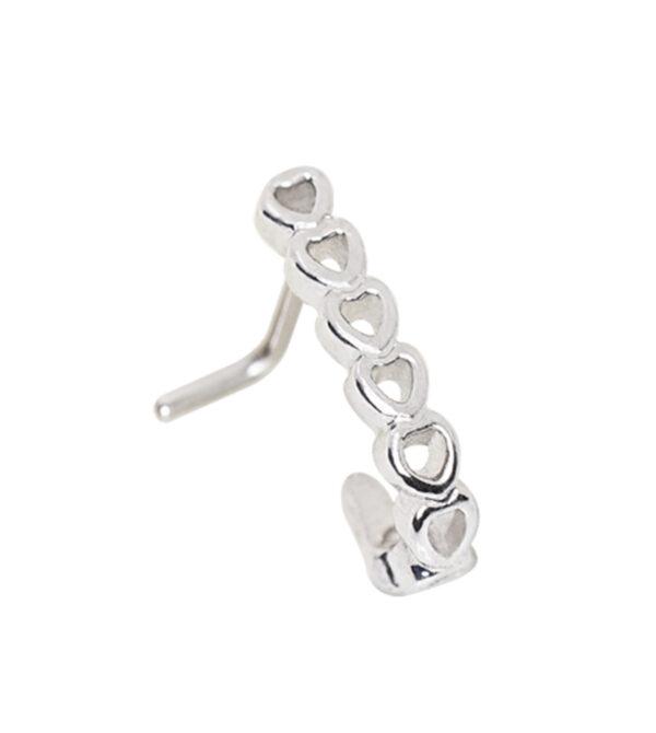 Heart L Bend Half Nose Hoop