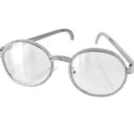 ABA Round Diamond metal frame Sunglasses