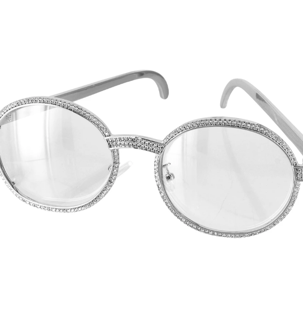ABA Round Diamond metal frame Sunglasses
