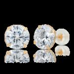 10K Gold VVS Simulated Diamond Stud Earring