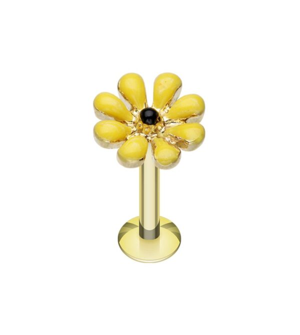 Golden Spring Blossom Flower Top Steel Labret