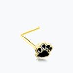 Animal Paw Print L-Shaped Nose Ring