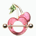 Golden Sweet Cherries Nipple Shield Ring