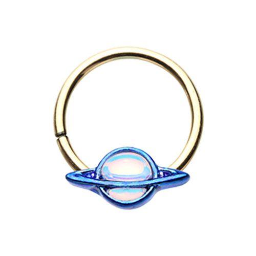 Saturn Galaxy Twist Hoop Ring