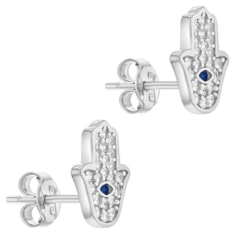 Hamsa Hand Amulet Protection Stud Earrings