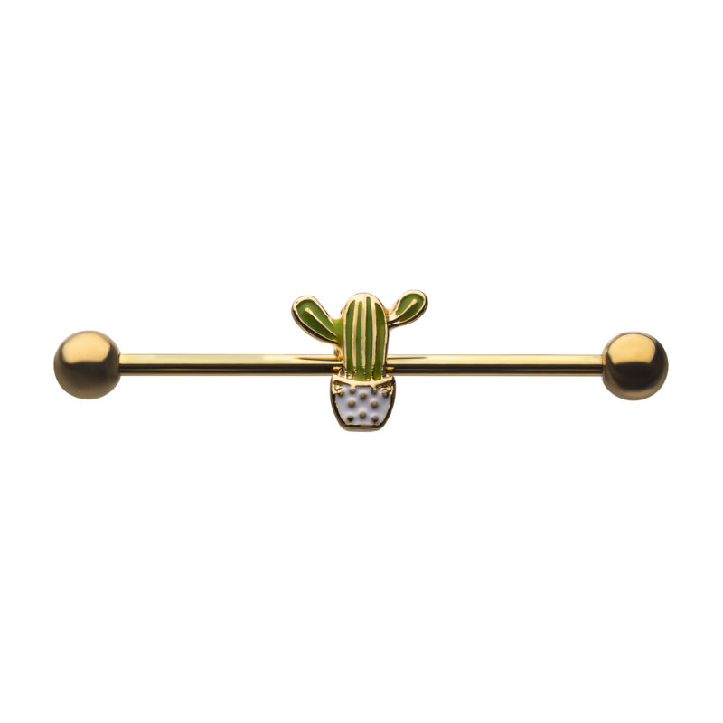 Front Facing Cactus Industrial Barbell