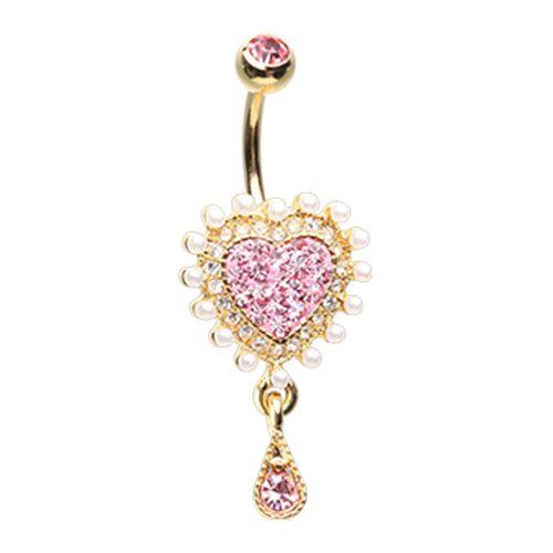 True Love Valentine Belly Button Ring