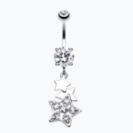 Star Dazzle Cubic Zirconia Belly Button Ring