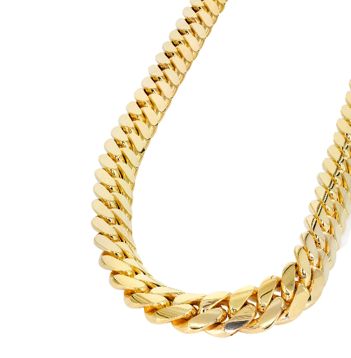 10k Hollow Gold 6mm Miami Cuban Link