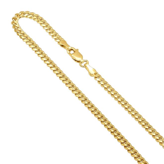 10k Gold Miami Cuban Link 3mm 18''