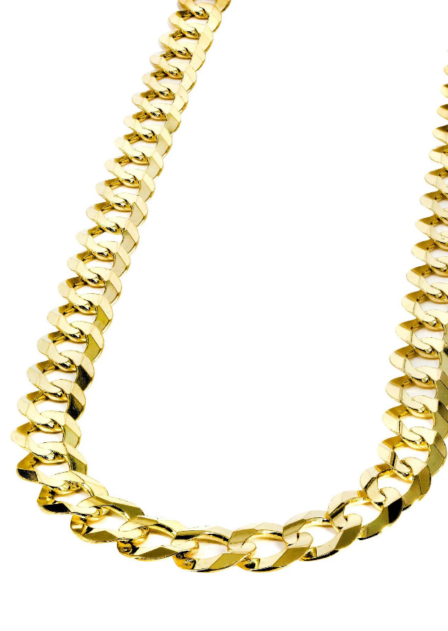 10k Gold Curb Cuban link 5mm thickness