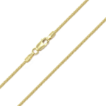 10k Gold Solid Diamond Cut Franco Chain 1.1mm